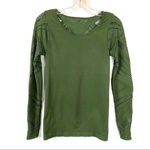 Fabletics NEW Green Seamless Shirt Size S